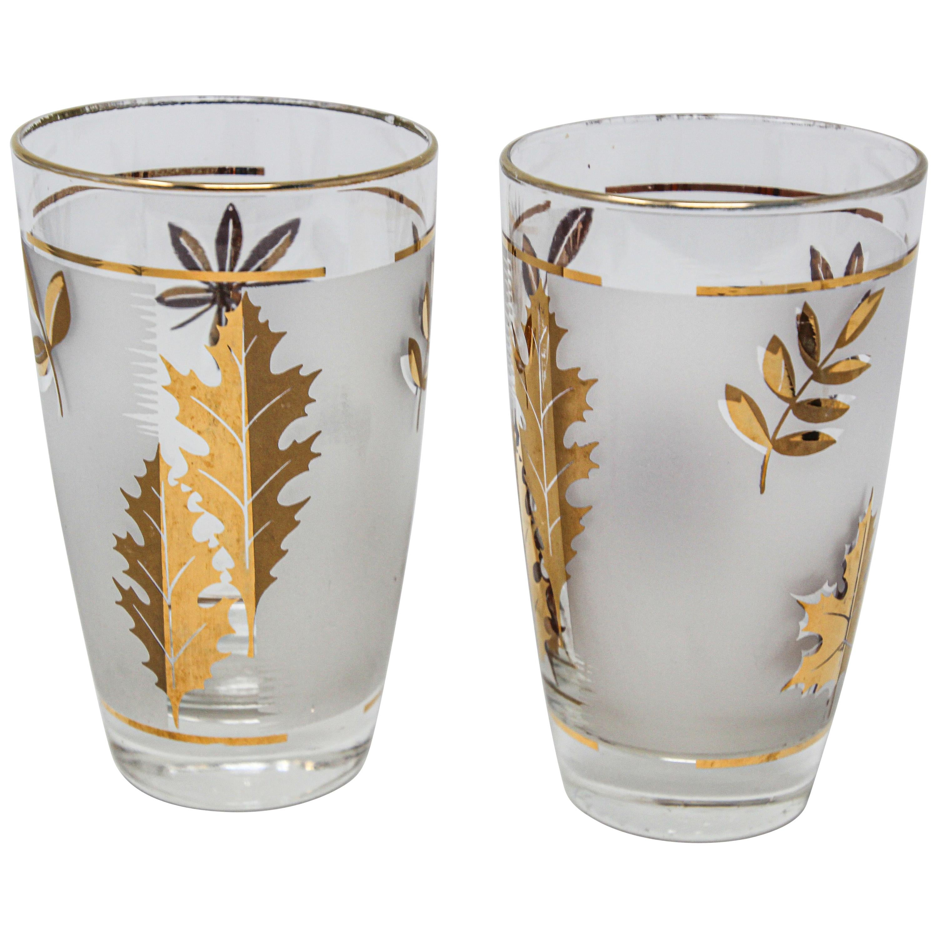 Set of Two Vintage Cocktail Glasses by Libbey