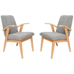 Set of Two Vintage Gray Chairs, 1960s