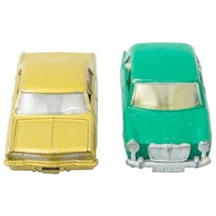 Set of Two Vintage Opel MatchBox Car Toys, circa 1960