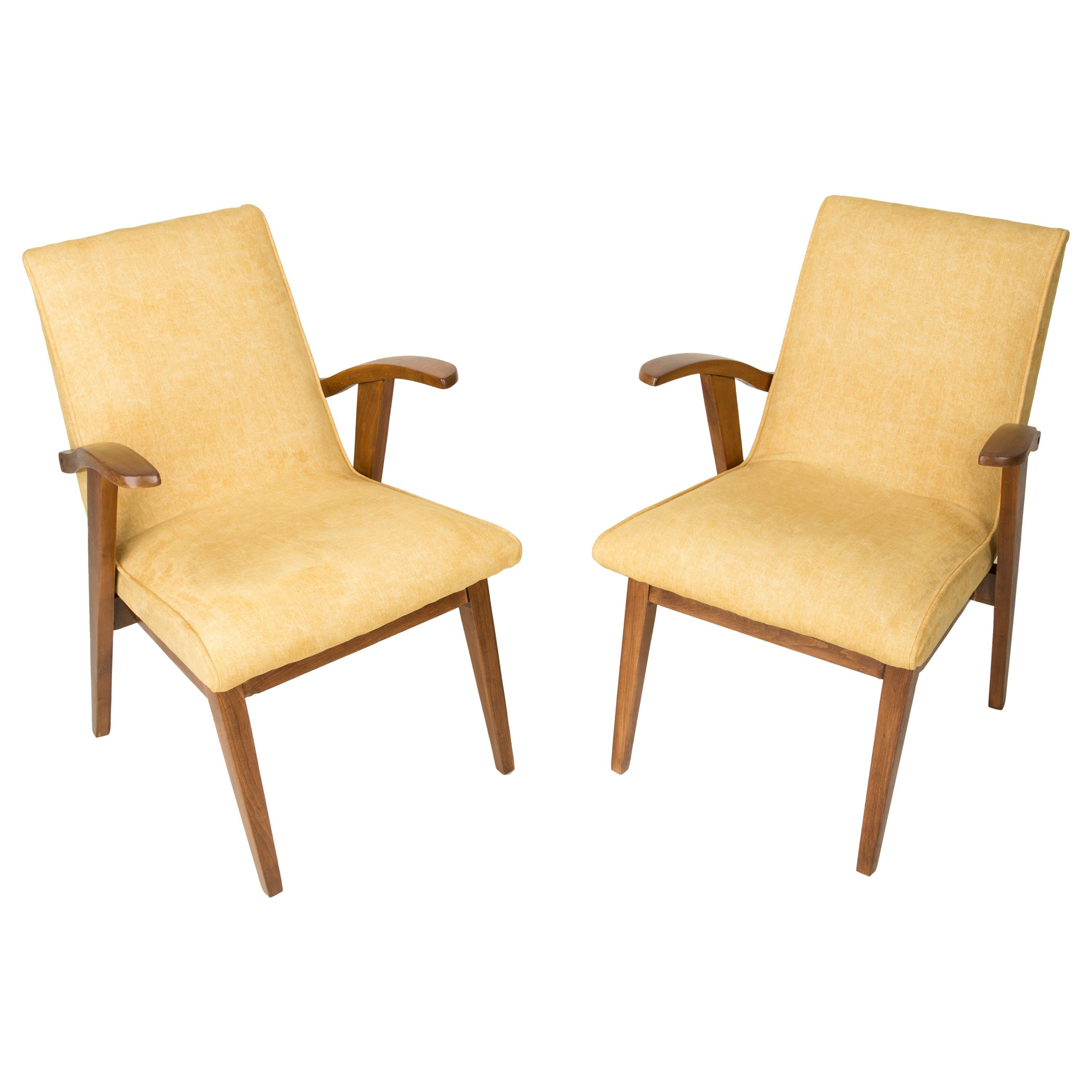 Set of Two Vintage Yellow Chairs, 1960s