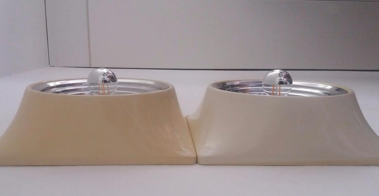 Set of Two Wall Lamps by Nizzoli Associati for Stilnovo In Good Condition For Sale In montecatini terme, IT