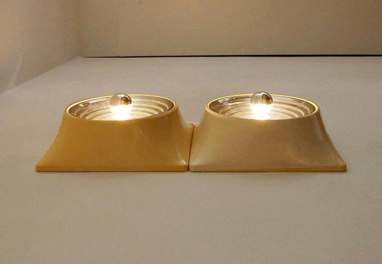 Set of Two Wall Lamps by Nizzoli Associati for Stilnovo, 1969 In Good Condition For Sale In Montecatini Terme, IT