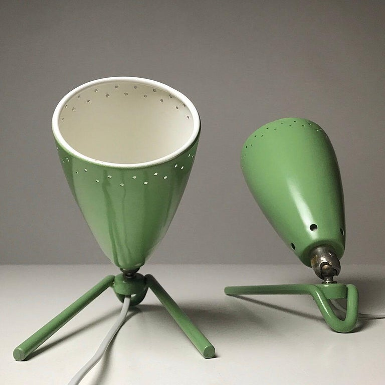 Set of Two Wall Light by Louis Kalff for Philips, Nederland, 1950s In Good Condition In Haderslev, DK