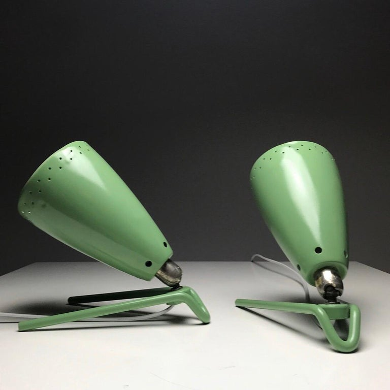 Mid-20th Century Set of Two Wall Light by Louis Kalff for Philips, Nederland, 1950s