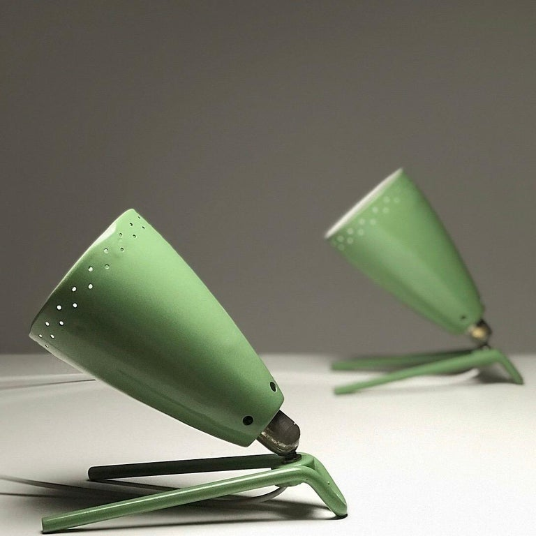 Lacquer Set of Two Wall Light by Louis Kalff for Philips, Nederland, 1950s