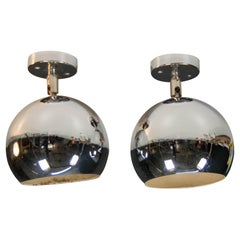 Set of Two Wall or Ceiling Lights, 1970s