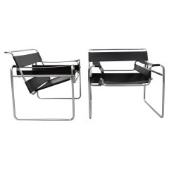 Set of Two Wassily Armchairs by Marcel Breuer