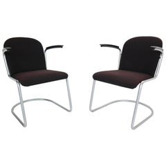 Set of Two W.H. Gispen M-413 Armchair, Dutch Design, 1953