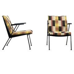 Set of Two Wim Rietveld Oase Armchairs from Ahrend de Cirkel in Tettex Fabric