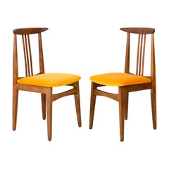 Set of Two Yellow Chairs, by Zielinski, Poland, 1960s