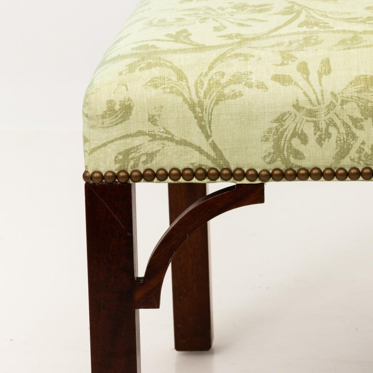 Set of Upholstered Dining Chairs For Sale 8