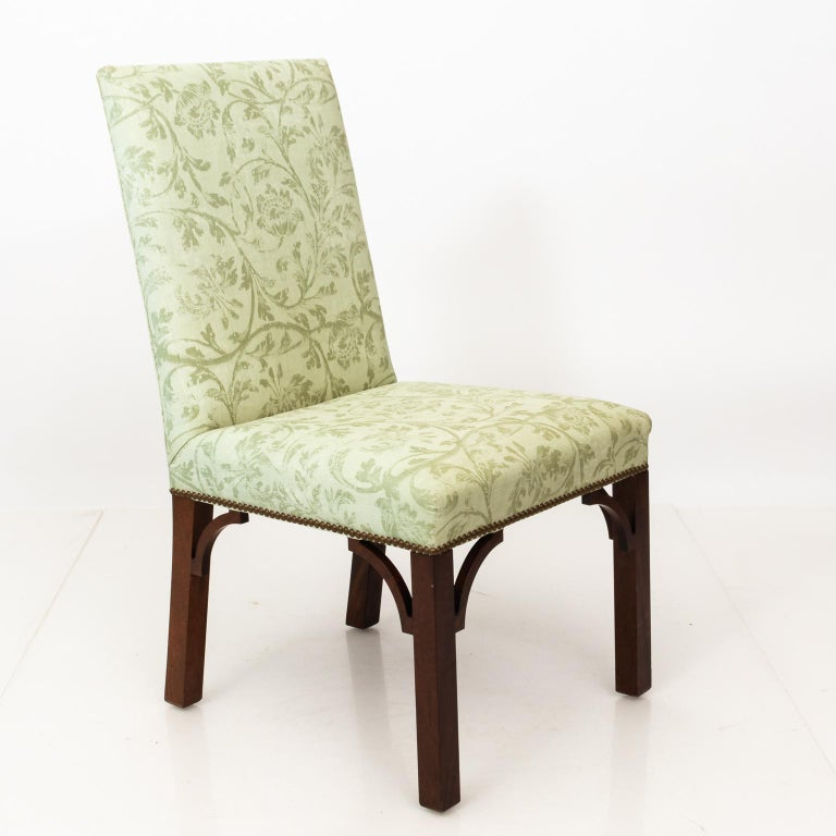 Set of Upholstered Dining Chairs For Sale 9