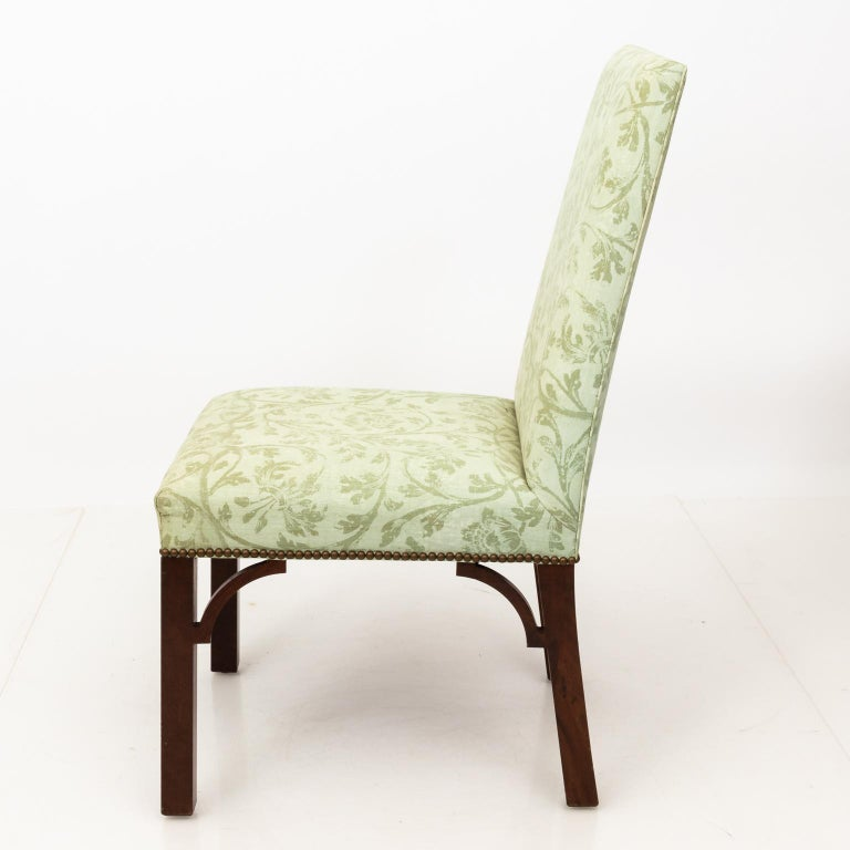 Set of Upholstered Dining Chairs For Sale 11