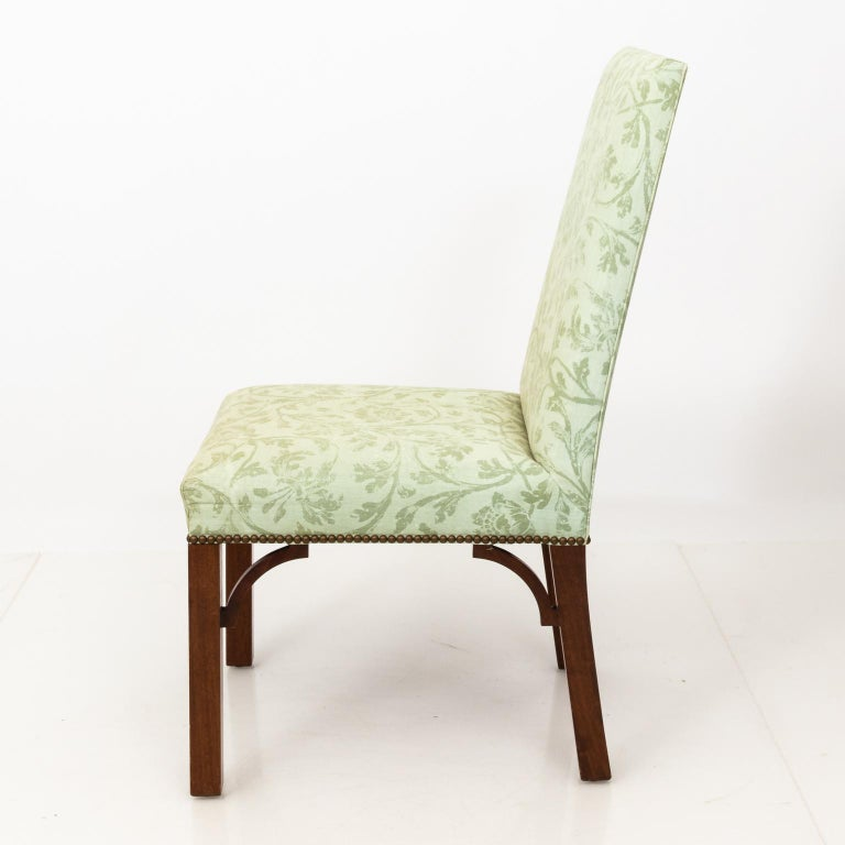 Set of Upholstered Dining Chairs For Sale 1