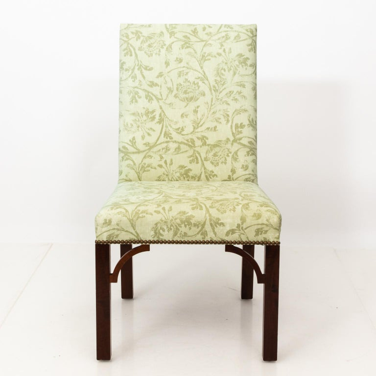 Set of Upholstered Dining Chairs For Sale 2