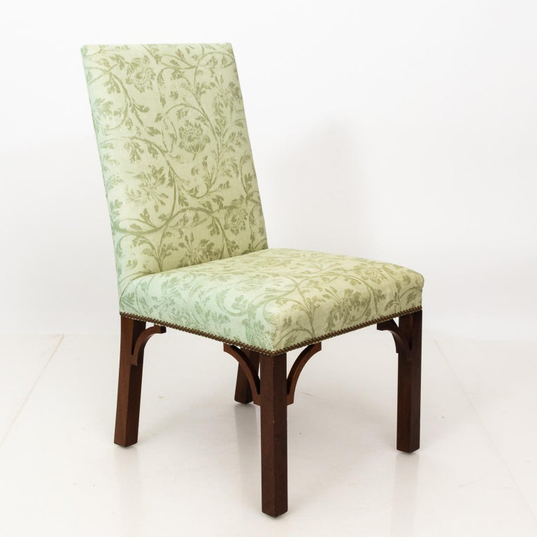 Set of Upholstered Dining Chairs For Sale 3
