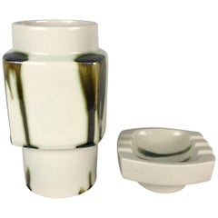 Set of Vase and Ashtray by Ditmar Urbach, Collection Marion, Czechoslovakia 1981