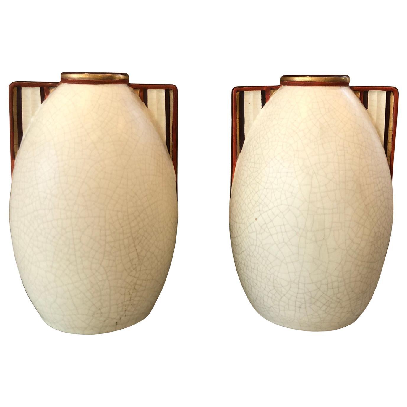 Set of Vase Art Deco, 1930s