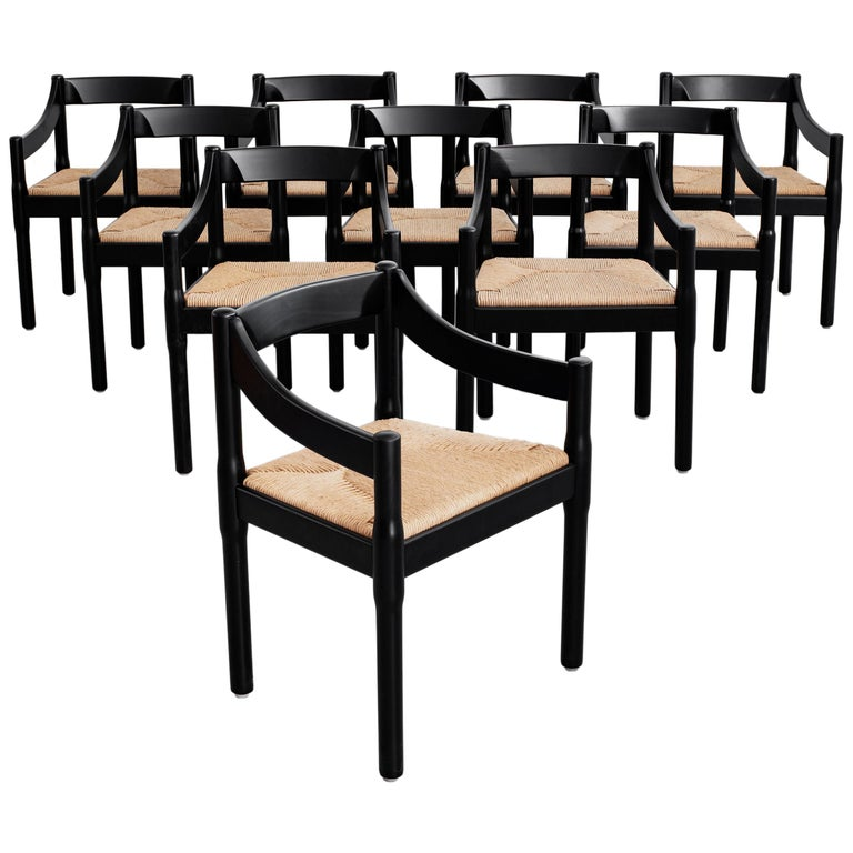 """Set of Vico Magistretti """"Carimate"""" Chairs for Cassina For Sale"""