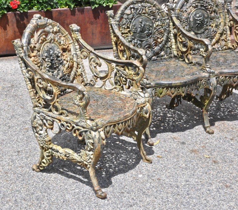 Set of early Victorian Cast Iron