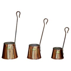 Set of Victorian Copper Cider Cans