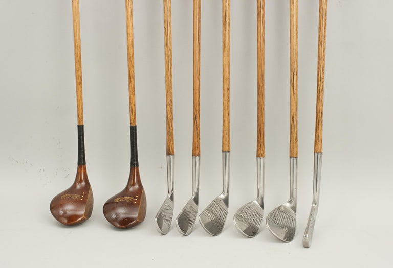 Set of Vintage Golf Clubs by Gibson of Kinghorn, Scotland For Sale 8