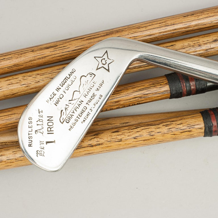 Set of Vintage Golf Clubs by Gibson of Kinghorn, Scotland For Sale 9