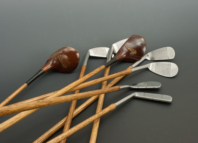 Set of Vintage Golf Clubs by Gibson of Kinghorn, Scotland For Sale 3
