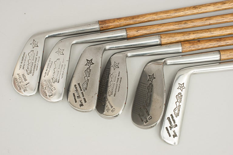 Set of Vintage Golf Clubs by Gibson of Kinghorn, Scotland For Sale 4