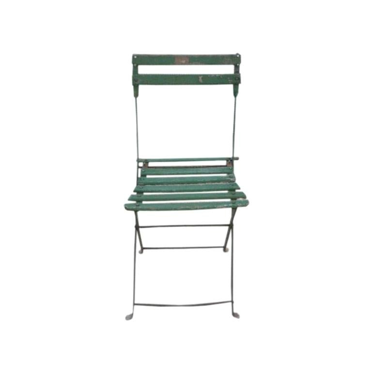 Set of Vintage Green Bistro Chairs
