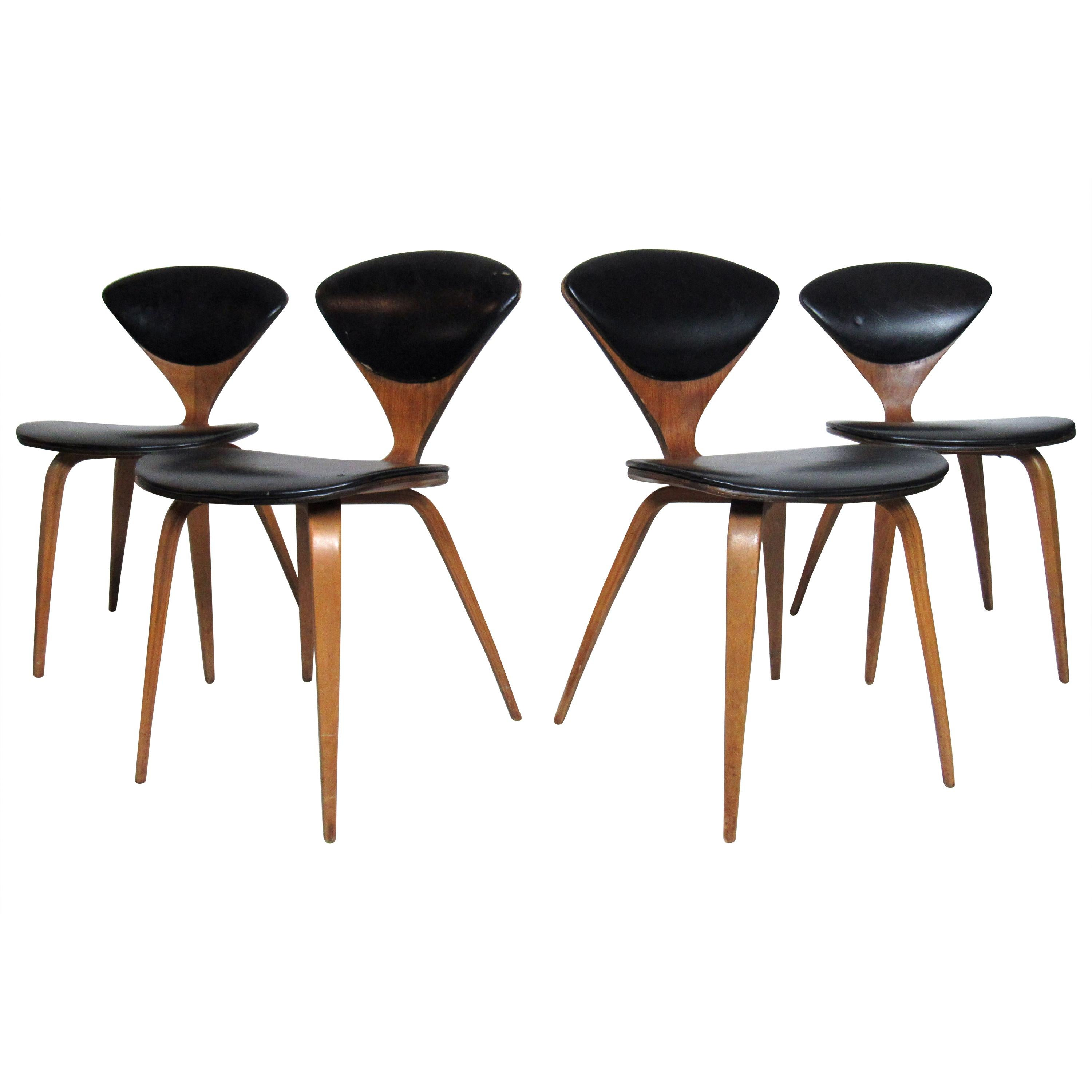 Set of Vintage Modern Norman Cherner Chairs