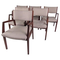Set of Vintage Modern Walnut Armchairs