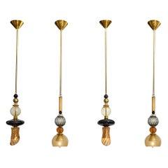 Set of Murano Glass Pendants