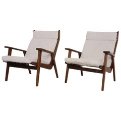 "Set of Vintage Rob Parry for Gelderland ""Lotus"" Lounge Chairs Dutch Design 1950s"