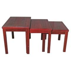 Set of Vintage Rosewood Nesting Tables