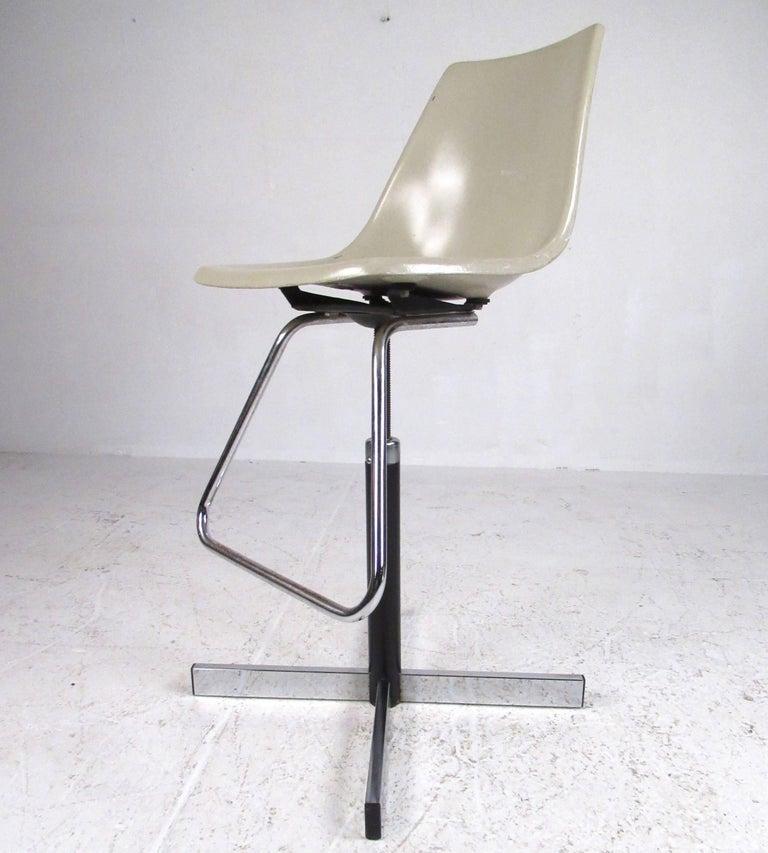 American Set of Vintage Swivel Adjustable Barstools For Sale
