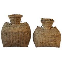 Set of Vintage Wicker Baskets