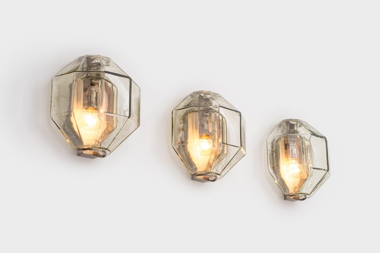 Set of Wall Sconces by Vinicio Vianello for Vistosi, Italy, 1957 In Good Condition For Sale In Rotterdam, NL