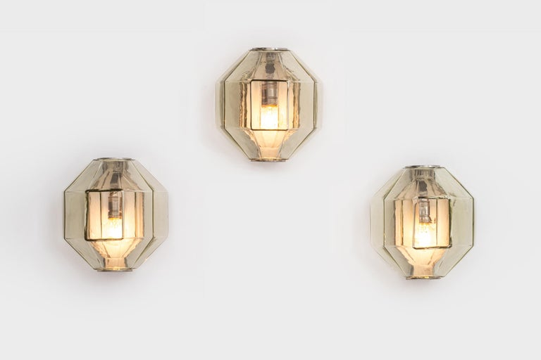 Set of Wall Sconces by Vinicio Vianello for Vistosi, Italy, 1957 For Sale 1
