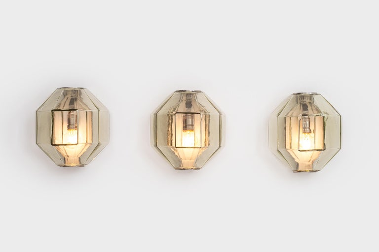 Set of Wall Sconces by Vinicio Vianello for Vistosi, Italy, 1957 For Sale 3