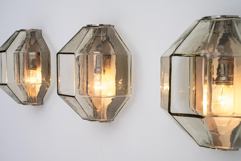 Set of Wall Sconces by Vinicio Vianello for Vistosi, Italy, 1957 For Sale 5