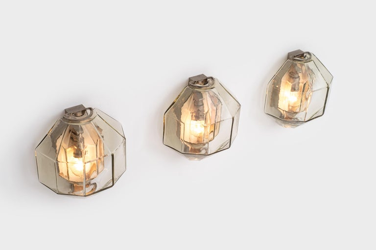 Set of Wall Sconces by Vinicio Vianello for Vistosi, Italy, 1957 For Sale 6