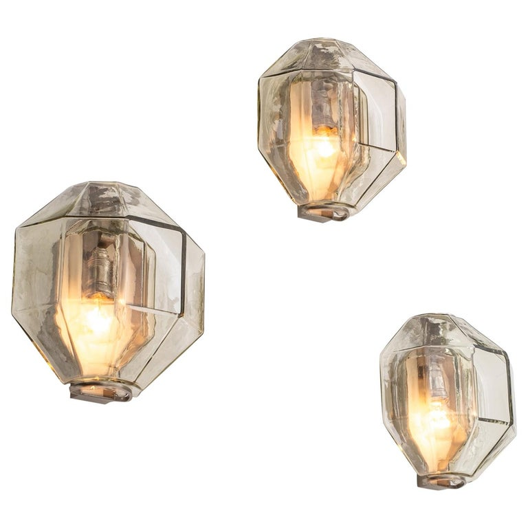 Set of Wall Sconces by Vinicio Vianello for Vistosi, Italy, 1957 For Sale