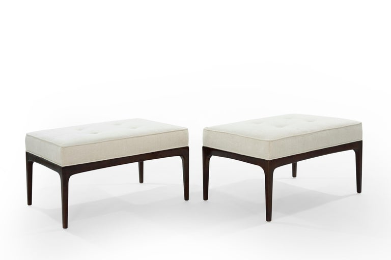 American Set of Walnut Mid-Century Modern Benches For Sale