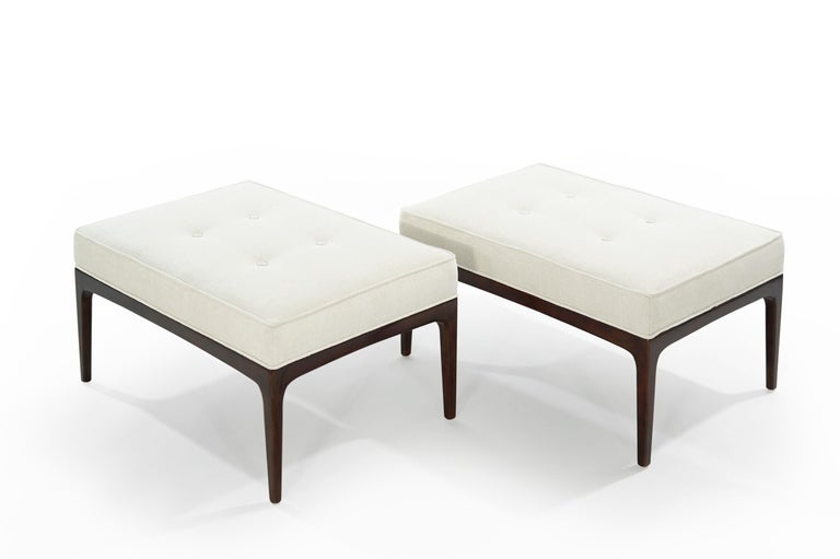 20th Century Set of Walnut Mid-Century Modern Benches For Sale