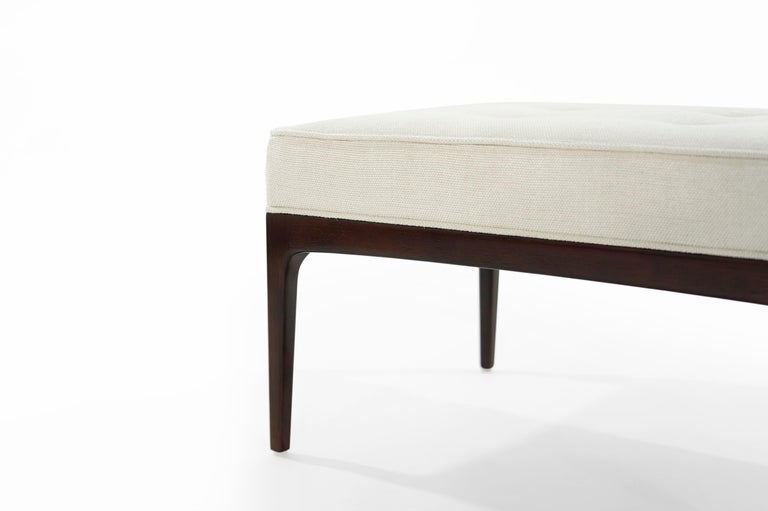 Set of Walnut Mid-Century Modern Benches For Sale 2