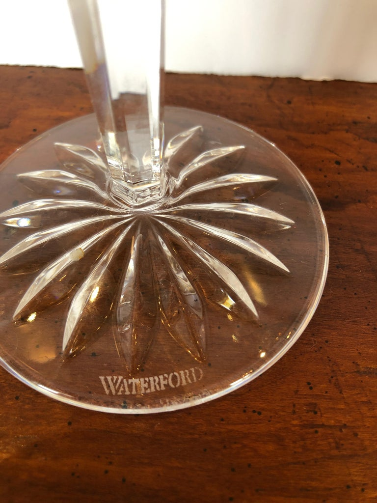 Set of Waterford Crystal 12 Days of Christmas Champagne Flutes In Excellent Condition For Sale In Hopewell, NJ