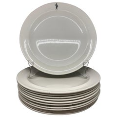 Set of Wedgwood Creamware Knight Plates