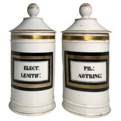 Set of White Porcelain Apothecary Jars