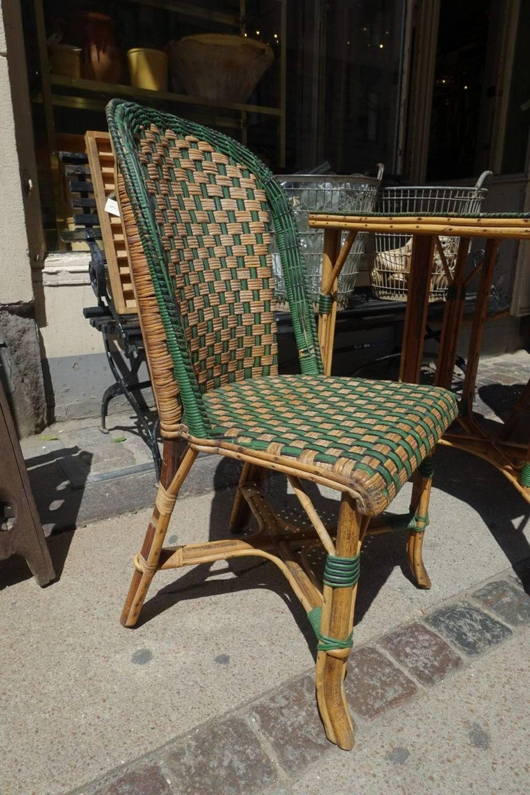 Mid-20th Century Set of Wickerwork Furniture, Le Rotin For Sale